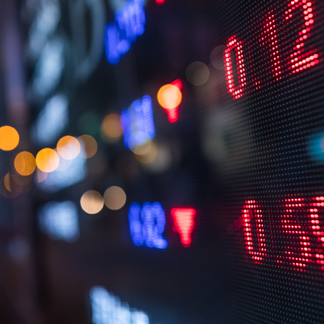 """Stock market price display"" stock image"