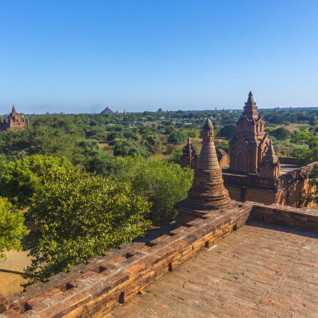 """""""Bagan buddha tower at day"""" stock image"""