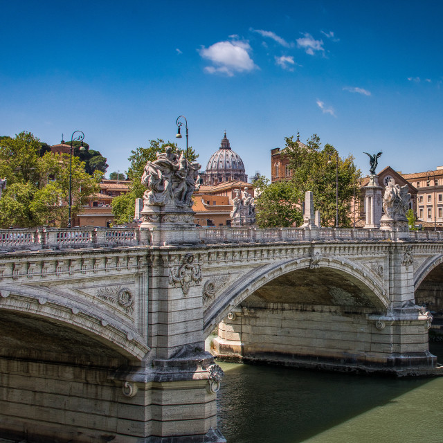 """Victor Emmanuele Bridge, Rome, Italy"" stock image"