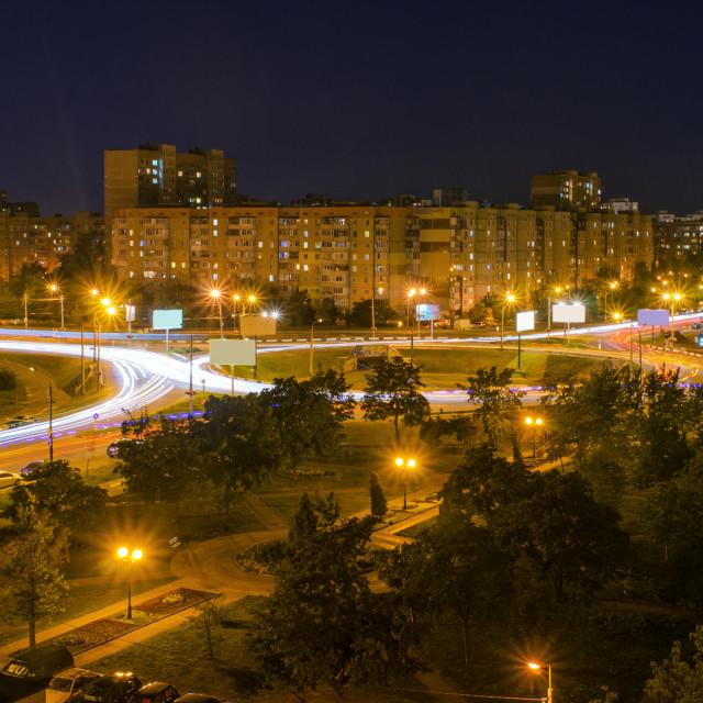 """Kiev City Lights At Night"" stock image"