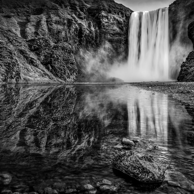 """Skogafoss Waterfall, Iceland"" stock image"