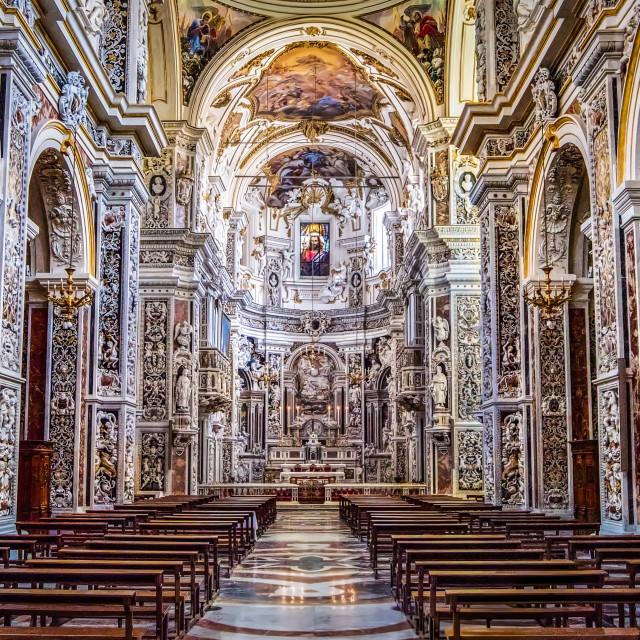 """Chiesa DI Ghesu II, Palermo, Italy"" stock image"