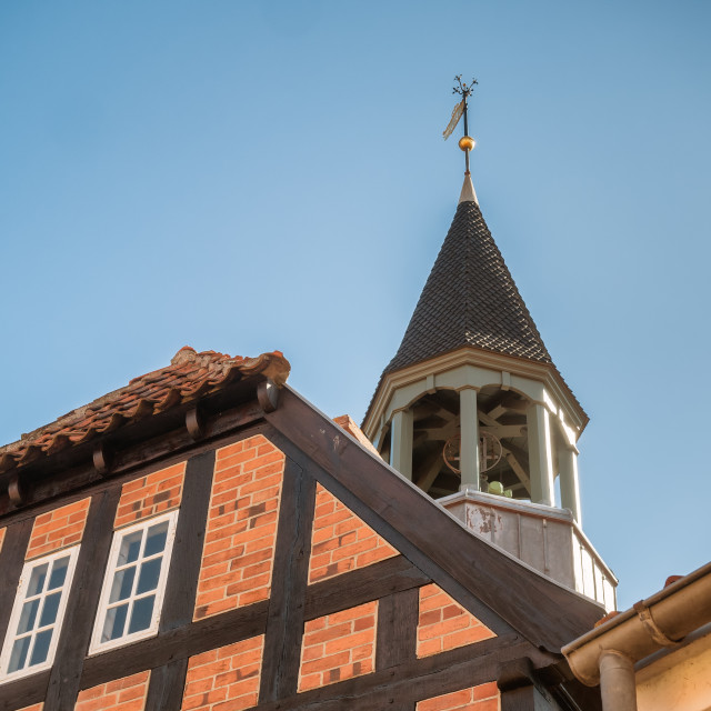 """""""Old town hall in Ebeltoft, Denmark"""" stock image"""
