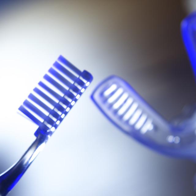 """""""Dental bracket aligner vibrator"""" stock image"""