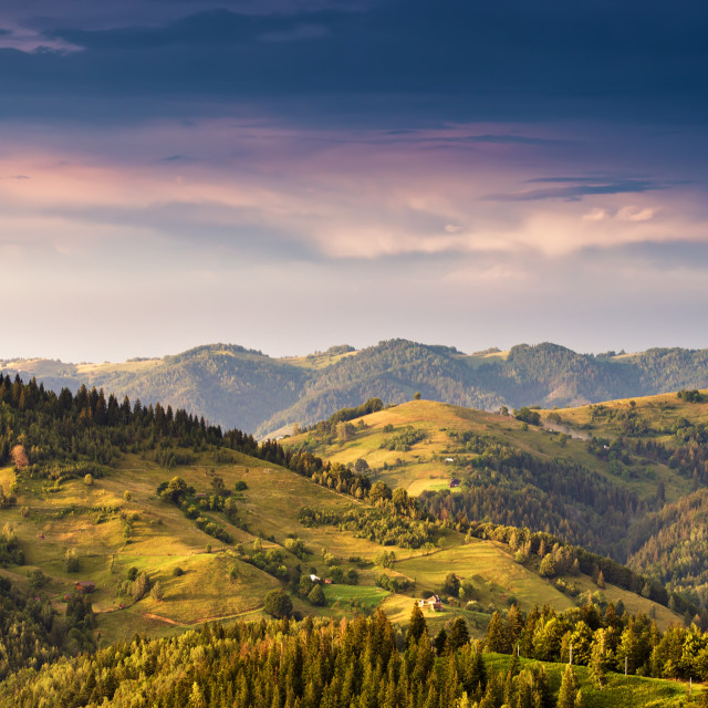 """""""Epic sunset in the mountains after storm."""" stock image"""