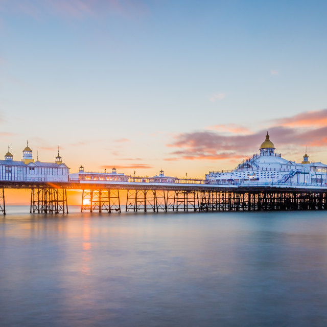 """Eastbourne Pier Sunrise 19-8-17."" stock image"