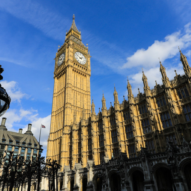 """Big Ben and the House of Parliament"" stock image"
