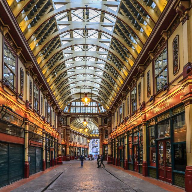 """Leadenhall market in centre of London"" stock image"