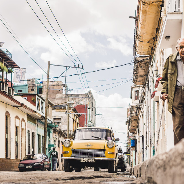 """in the streets of havana"" stock image"