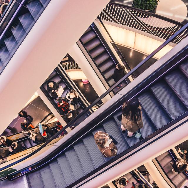 """escalators"" stock image"