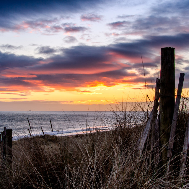 """Beach Sunrise."" stock image"