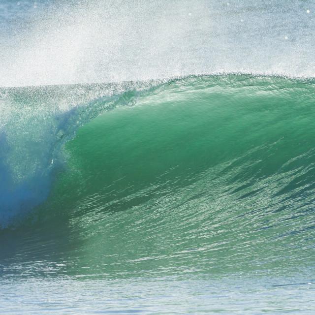 """""""Ocean Wave Closeup"""" stock image"""
