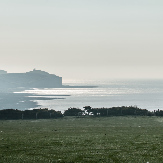 """""""April Morning and Belle Tout"""" stock image"""