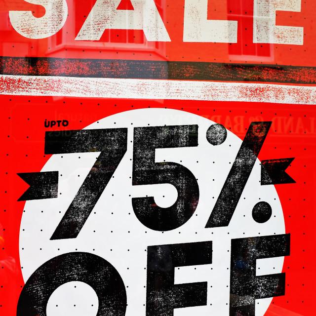 """Grab a Bargain"" stock image"