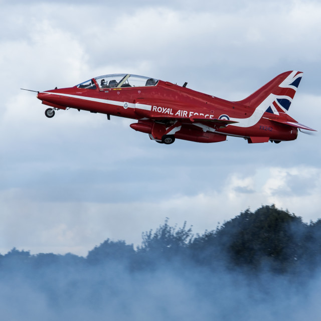 """Red Arrow Take Off"" stock image"
