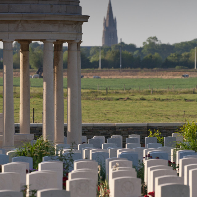 """Bedford war cemetery near Ypres"" stock image"