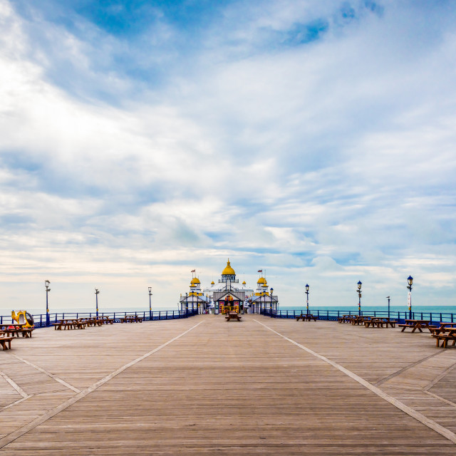 """Eastbourne Pier 16-8-17."" stock image"