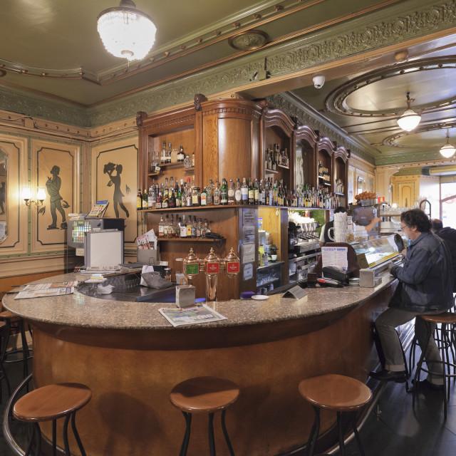 """Art Nouveau Cafe de l'Opera, La Rambla (Les Ramblas), Barcelona, Catalonia,..."" stock image"