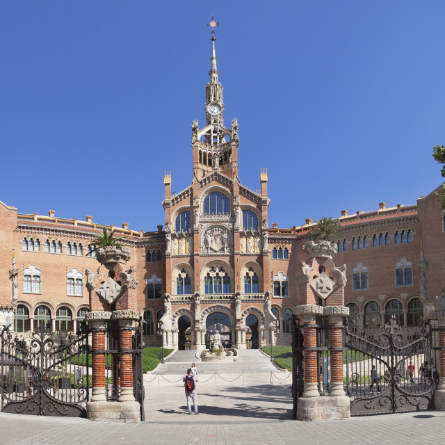 """Sant Pau Hospital, Lluis Domenech i Montaner, UNESCO World Heritage Site,..."" stock image"