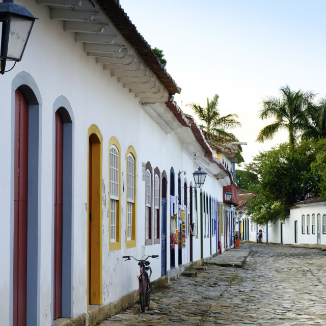 """Portuguese colonial vernacular architecture in the centre of Paraty or Parati..."" stock image"
