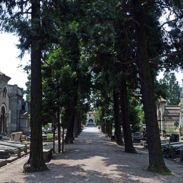 """The Monumental Cemetery, more than just a simple cemetery, is an..."" stock image"