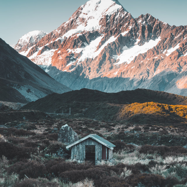 """Hooker Valley Track Mount Cook 1/2"" stock image"
