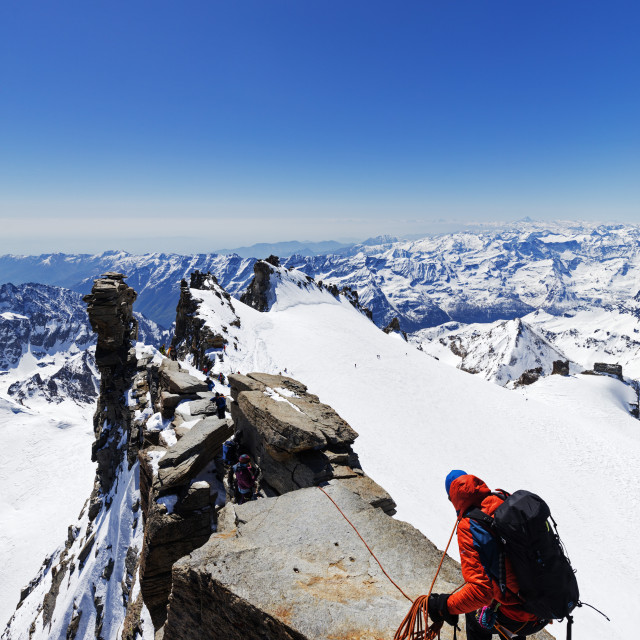 """""""Europe, Italy, The Alps, Aosta valley, Grand Paradiso, Madonna summit 4059m,..."""" stock image"""
