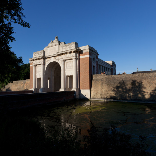 """The Menin Gate memorial in Ypres, Belgium"" stock image"