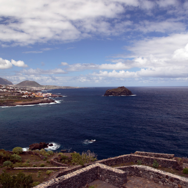 """""""The town of Garachico on the north coast of Tenerife in the Canary Islands"""" stock image"""