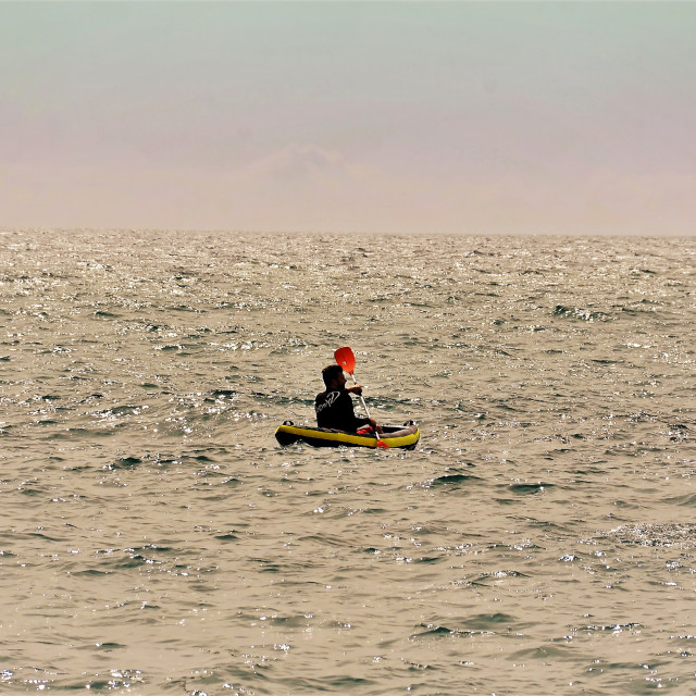 """Kayak in the sea"" stock image"