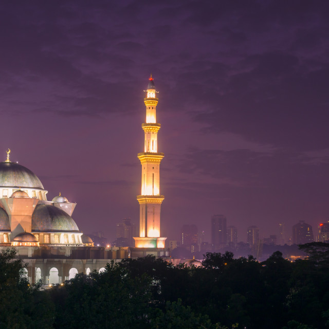 """""""The Federal Territory Mosque"""" stock image"""