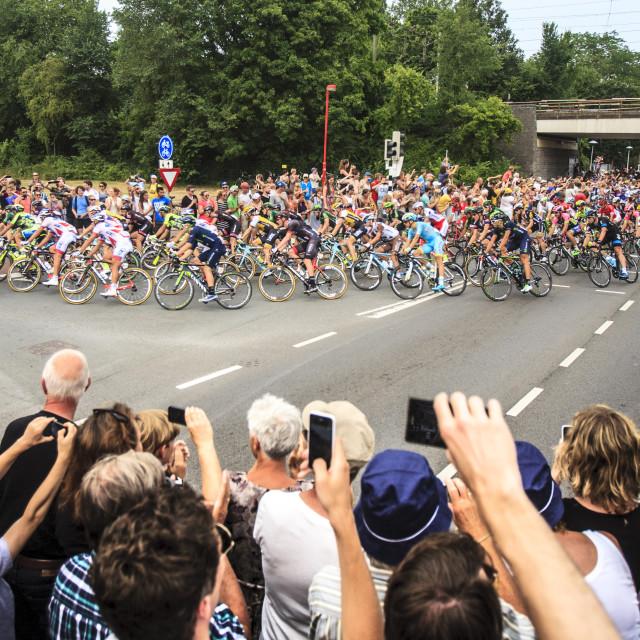"""""""The Tour de France leaving Utrecht"""" stock image"""