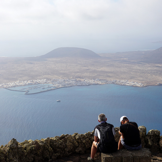 """Looking at Isla Graciosa"" stock image"