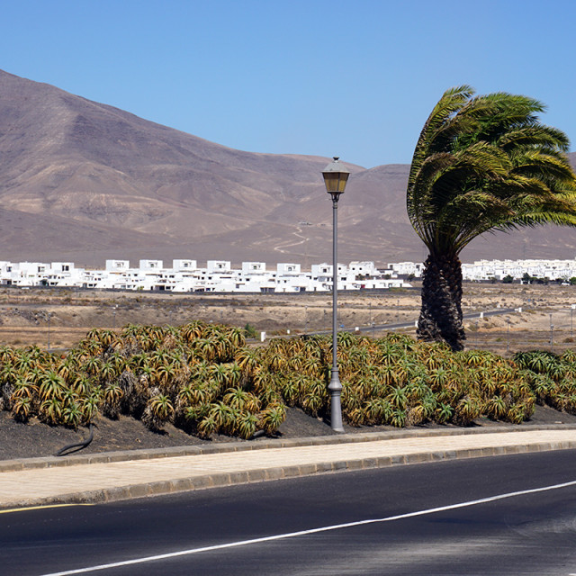 """Village in Lanzarote"" stock image"