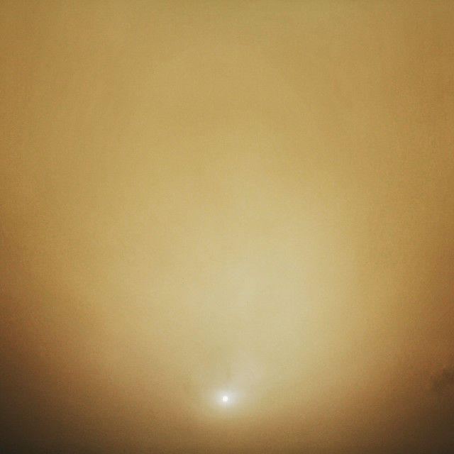 """Dust Storm Sunset"" stock image"