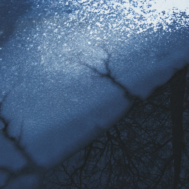 """""""Icy Textures"""" stock image"""