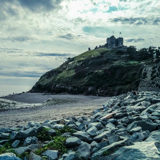 """Criccieth Castle, North Wales"" stock image"