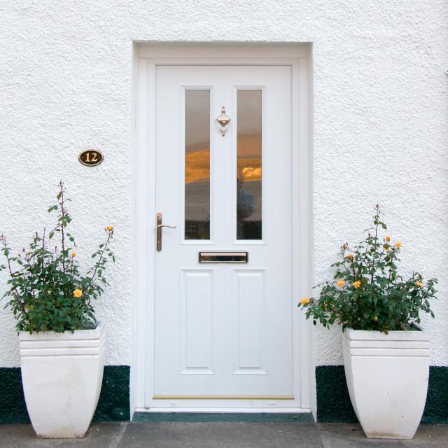 """White Door"" stock image"