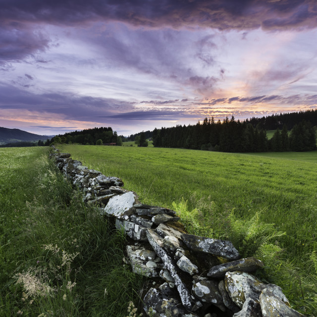 """Allgäu evening"" stock image"