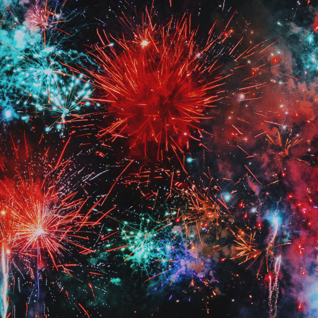 """Fireworks in a Japanese festival"" stock image"