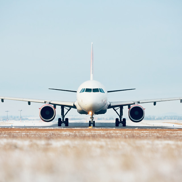 """Airport in winter"" stock image"
