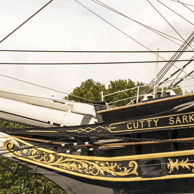 """London - Greenwich - Cutty Sark"" stock image"