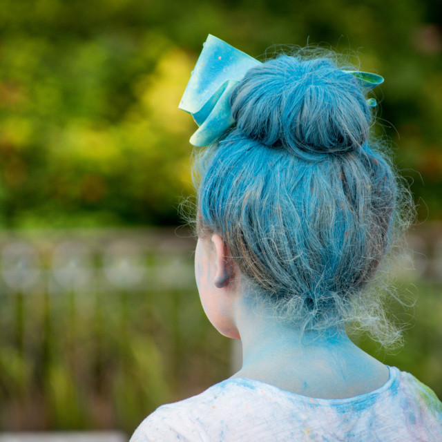 """Blue hair"" stock image"