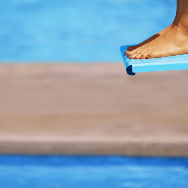 """""""Feet On A Diving Board"""" stock image"""