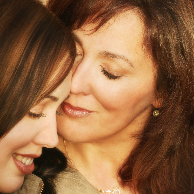 """""""Mother And Daughter Share A Special Moment"""" stock image"""