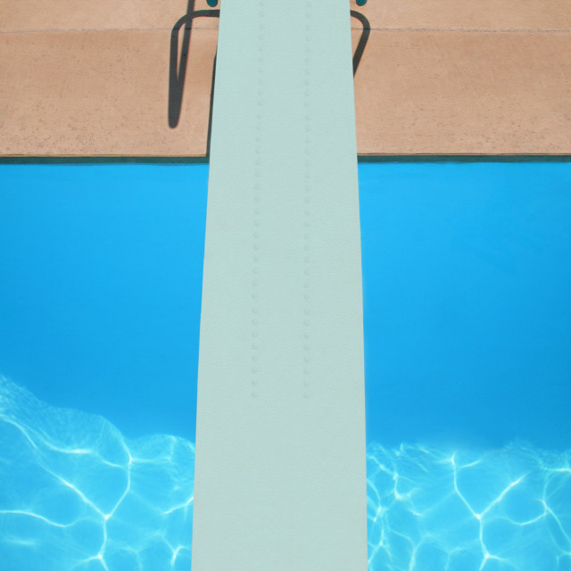 """""""A Diving Board"""" stock image"""