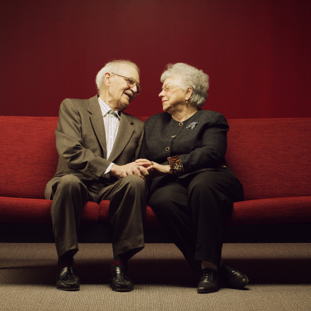 """A Devoted Senior Couple"" stock image"