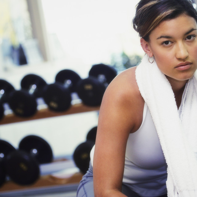 """""""Young Woman In A Fitness Center"""" stock image"""