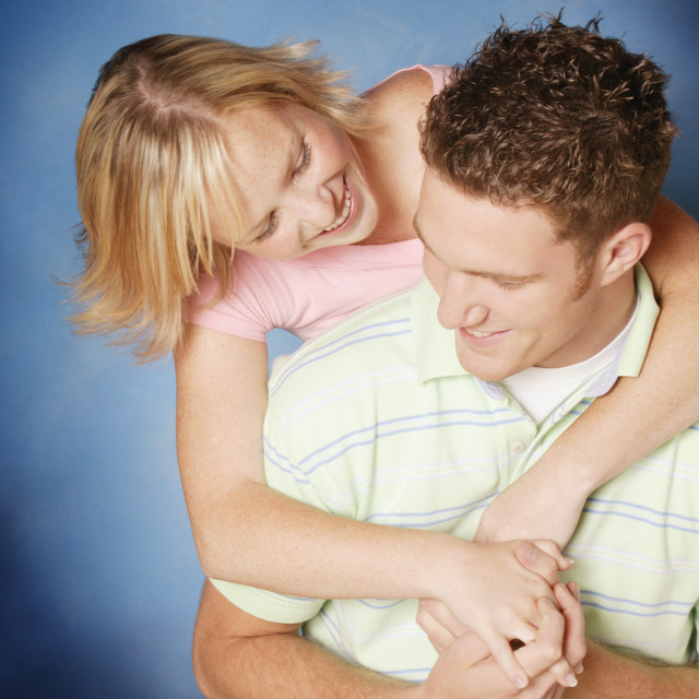 """A Couple Embrace"" stock image"