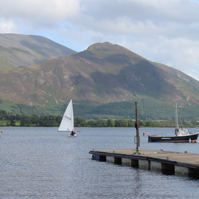 """Boats on Bassenthwaite Lake"" stock image"